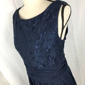 JESSICA HOWARD 16 Blue Formal Dress Lace Glitter